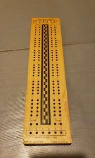 Cribbage Game Board - Made in USA