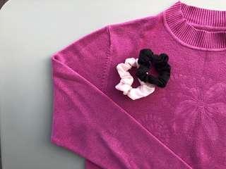 Pink wool knit
