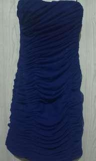 Blue cocktail tube gown