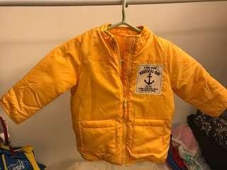 GITA 黃色拉鍊外套(9成新)尺碼90