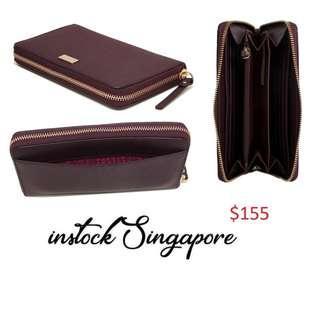 READY STOCK authentic new  Kate Spade New York Laurel Way Neda Saffiano Leather Zip Around Wallet wlru2669