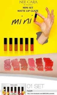 ON HAND! Nee Cara mini matte lip glaze