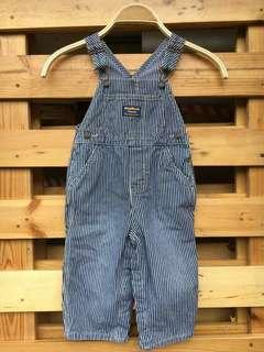 Oshkosh hickory stripes overall