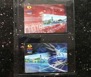 2006《世界電信展》郵資已付圖片卡一套2張