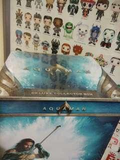 Funko Pop Aquaman Deluxe Collector Box Exclusive Vinyl Figure Collectible Toy Gift Movie DC Gold Chrome Arthur Curry Mystery Mini