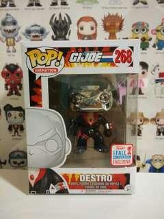 Funko Pop Chrome Destro Fall Convention Exclusive Vinyl Figure Collectible Toy Gift GI Joe