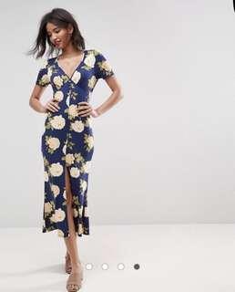 Maxi tea dress with slit