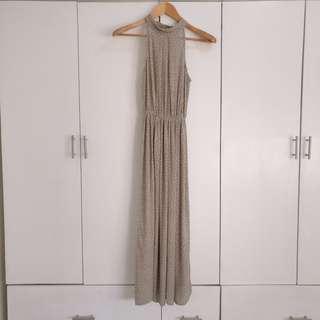Long Halter Maxi Dress