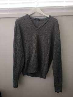 Grey winter knit