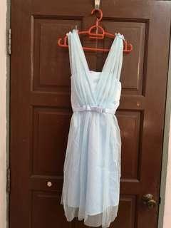 Bridesmaid Dress. Light blue