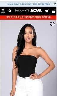 Fashion Nova Tubular Bodysuit Small