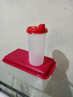 Tupperware botol  minyak +box