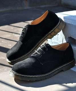 (歡迎要圖) 3孔牛津鞋 男裝皮鞋 休閑鞋 透明鞋底 黑色