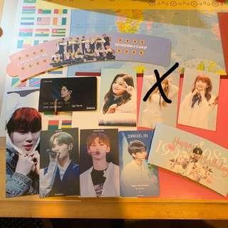 WTT Wanna one Izone fan-support