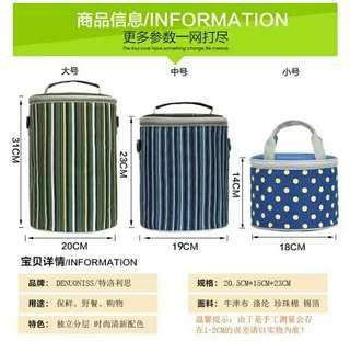🚚 LUNCH BOX AND SNACK BOX KEEP WARM  STAINLESS STEEL LUNCH BAG