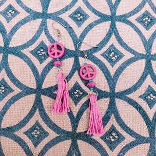 Tassel Peace Earrings