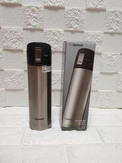 🚚 Special:Rare Imported silver Zojirushi Mug 480ml (Full Inner And Outer Stainless Steel); 6.5cm by 6.5cm by 23 cm