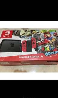 🇲🇾 Ready Stock Nintendo Switch Mario Edition Bundled With 12 Games (Pre-Owned)