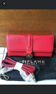 (80k) oriflame dompet sling merah