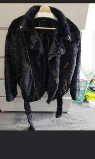 Boohoo Aviator Coat Size 8 Brand New