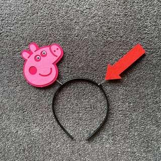Peggy pig party head accessory for adult