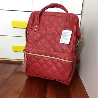 Red Anello Quilting Mouthpiece backpack Large AH-B3001