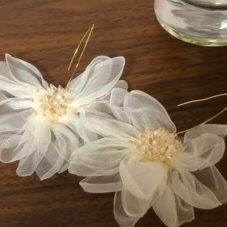 仙氣 山茶花耳環 Camelia Earrings