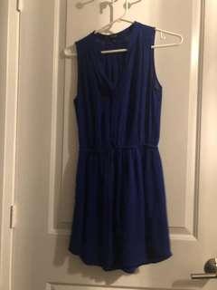 Babaton aritzia xxs blue dress