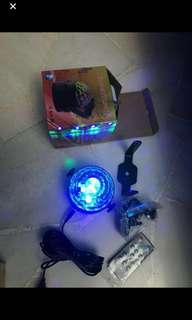 Disco led light follow music and USB port .