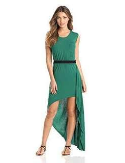 BCBGmaxazria Asymmetric Green Dress
