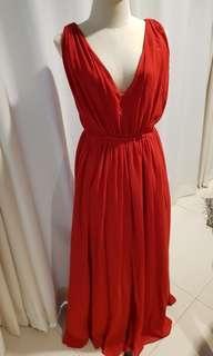 Mango formal red dress