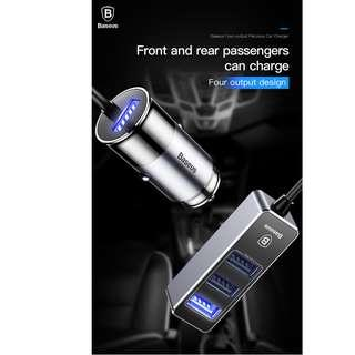 Baseus 4 in 1 USB Car Charger