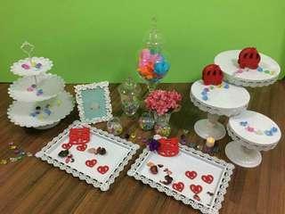 平租小朋友生日/百日宴/婚禮reception/photo album/糖果閣佈置擺設/Wedding Candy Corner Decoration租借服務 (不包食物)