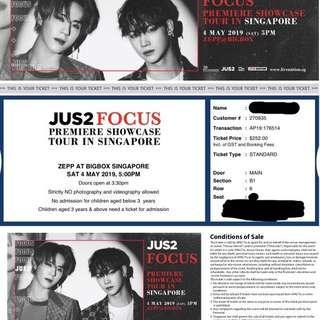 [WTS] 1x GOT7 JUS2 Focus Showcase Premiere Cat 1 Ticket