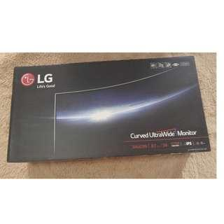 LG Curved Ultra Wide Monitor Empty Box With Styrofoam