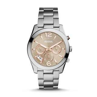 🚚 Fossil ES4146 Women's Perfect Boyfriend Sport Multifunction Stainless Steel Watch (Priced to clear)