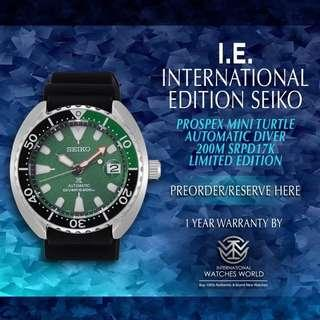 🚚 SEIKO INTERNATIONAL EDITION PROSPEX AUTOMATIC MINI TURTLE LIMITED EDITION SRPD17K