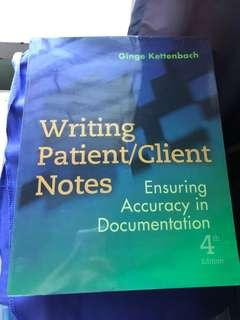 Writing Patient/Client Notes by Kettenbach