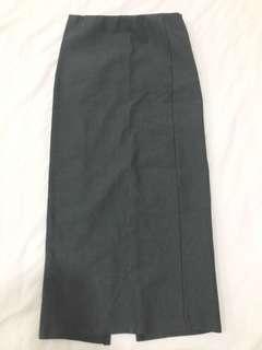 Grey Work/Casual Pencil Skirt