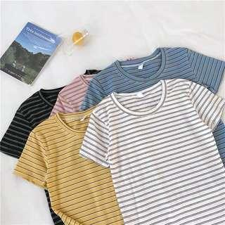 🚚 [PO] Basic Striped Tee V2