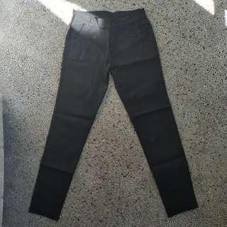 Black skinny slacks