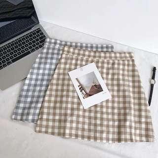 🚚 [PO] korean summer plaid skirt
