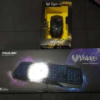 Prolink Gaming Keyboard And Mouse bundle (Priced to clear)