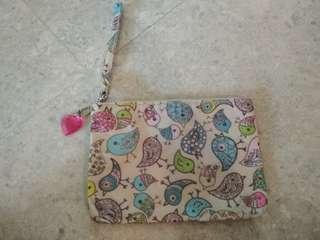 Small cosmetic toiletries pouch