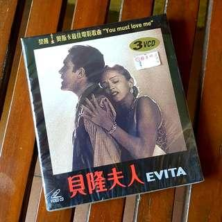 MADONNA EVITA VCD 3 DISCS NEW SEALED