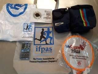 IFPAS Run 2019 Event Tee XS size, Medal, Bag, H2O Waist Pouch