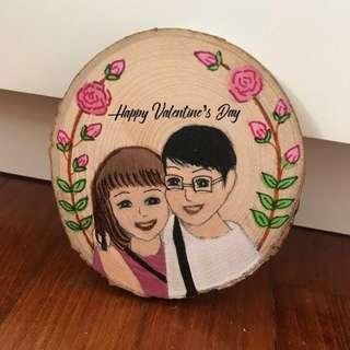 Couple illustration on coaster