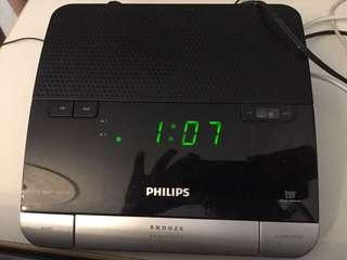 Philips FM radio and Alarm Clock with USB ports for charging