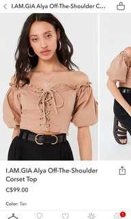 IAMGIA Off The Shoulder Corset Top