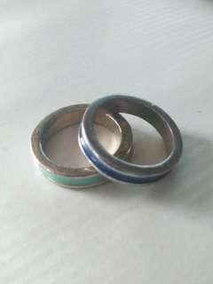 Blue & Light Green Rings (Bundle)